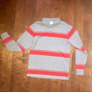 RVCA men's polo shirt large long sleeve